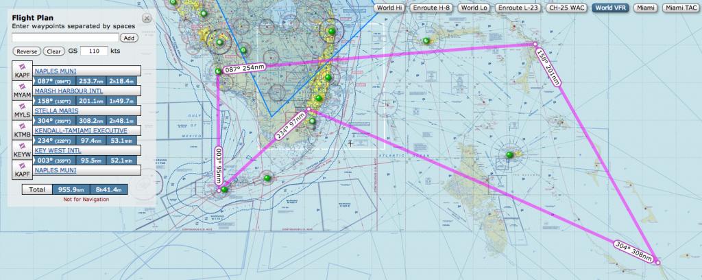 map of Bahamas Tour